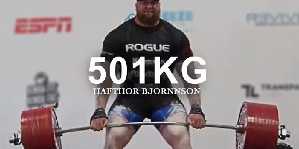 Hafthor Bjornsson Most Inspiring Video – 501kg Deadlift