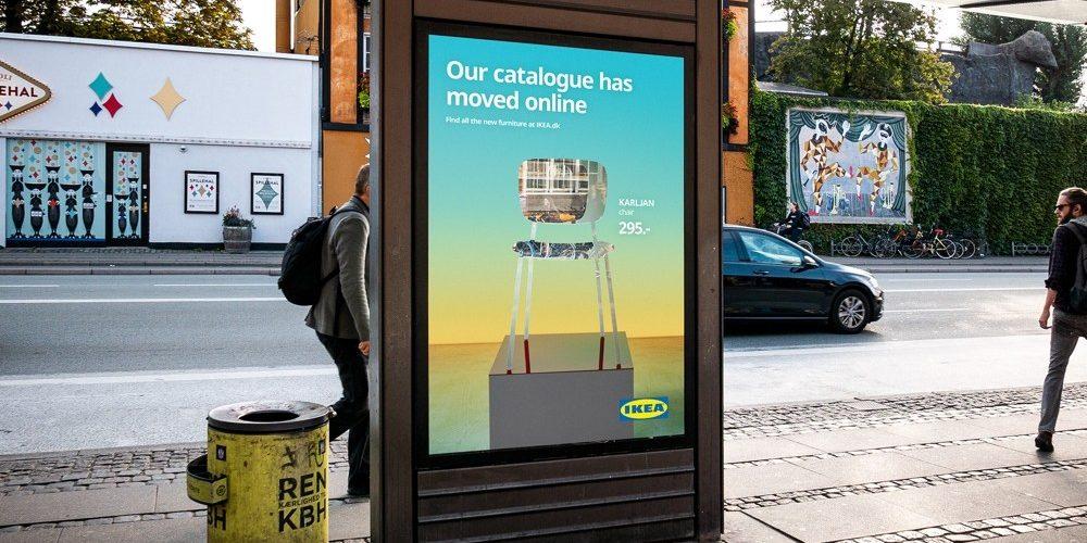 Los muebles de IKEA desaparecen en esta campaña de exterior para anunciar su nuevo catálogo en Dinamarca