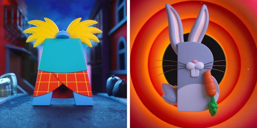 Un alfabeto que rinde homenaje a los dibujos animados de nuestra infancia