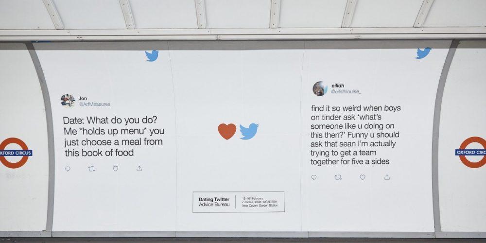 Twitter inunda el metro de Londres con tweets de historias de amor divertidas e inesperadas por San Valentín