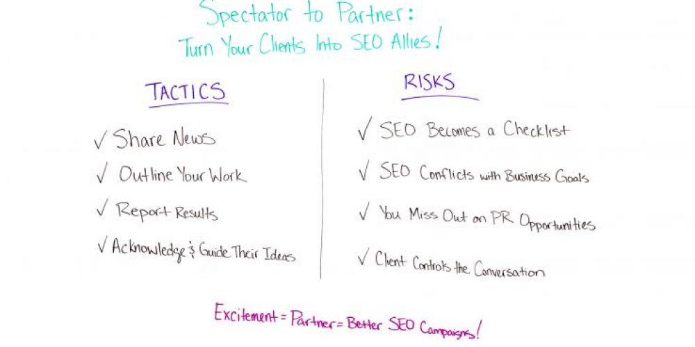 Spectator to Partner: Turn Your Clients into SEO Allies – Best of Whiteboard Friday
