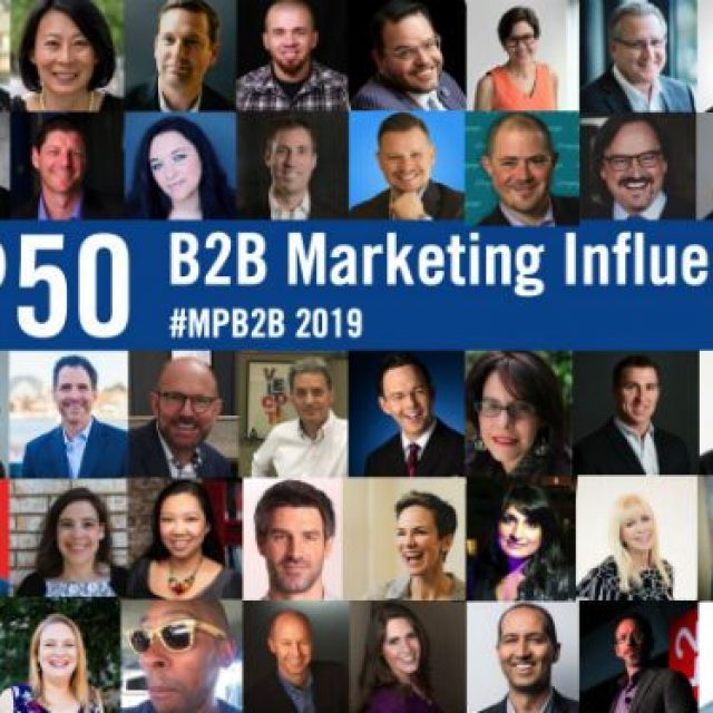 50 Top B2B Marketing Influencers, Experts and Speakers in 2019