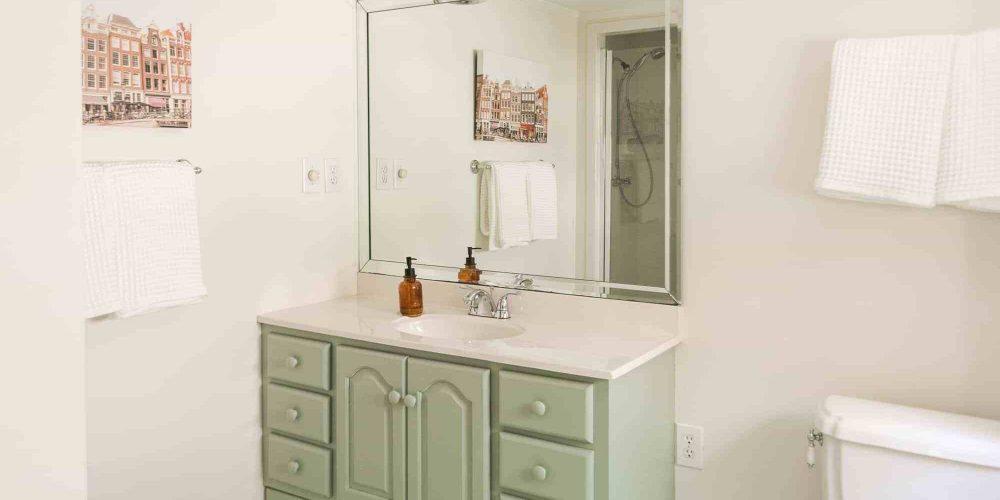 I Painted Our Bathroom Vanity!