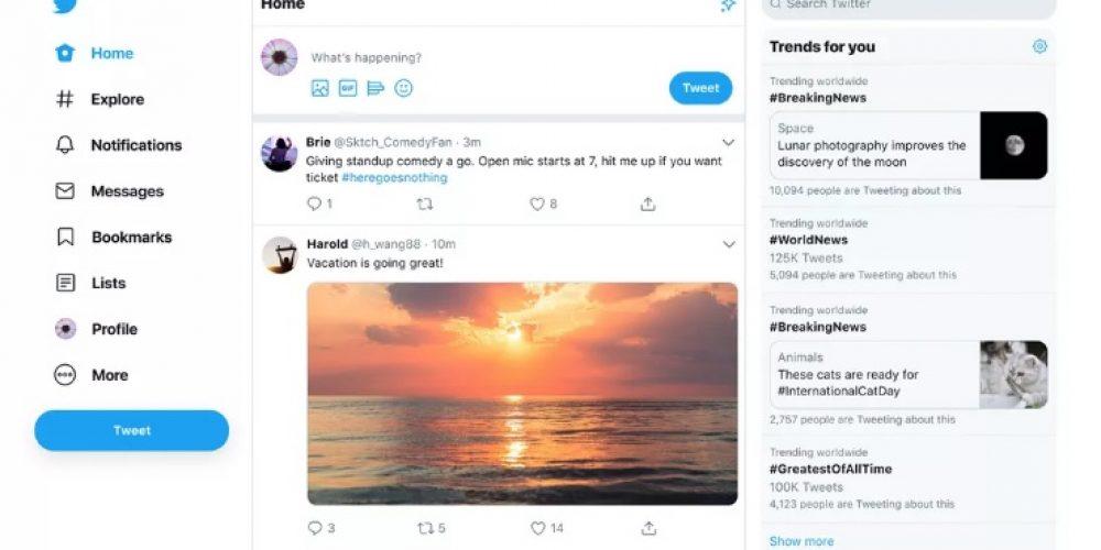 Twitter rediseña su sitio web para facilitar la navegación de los usuarios