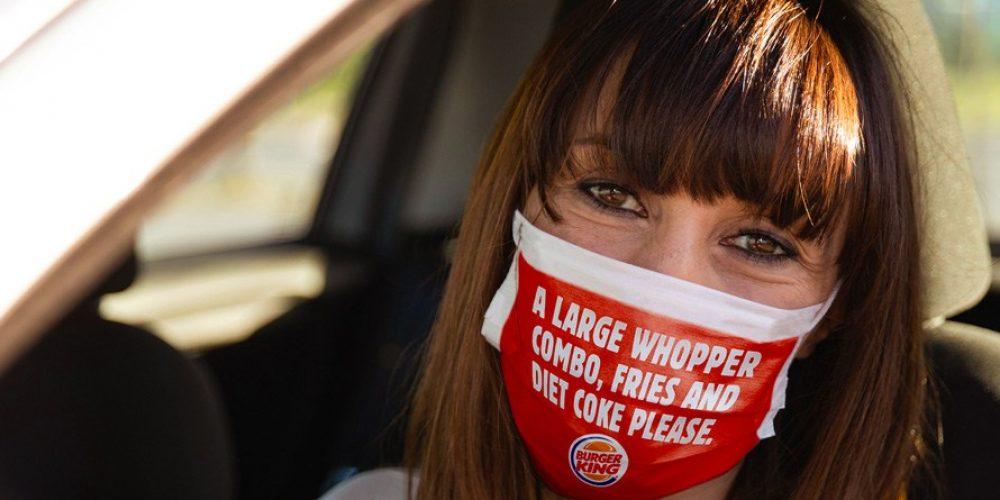 Burger King imprime tu pedido en la mascarilla para mejorar la comunicación en sus restaurantes