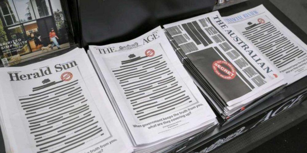 Los periódicos australianos censuran sus portadas a favor de la libertad de prensa