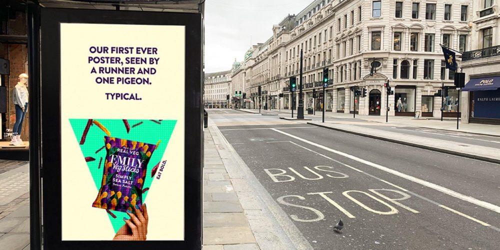 Esta marca de snacks ha lanzado su primera campaña de exterior durante la cuarentena… y no les ha ido nada mal