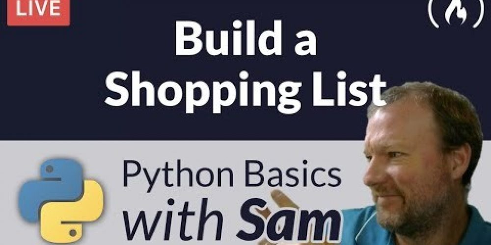 Build a Shopping List for the Command Line – Python Basics with Sam