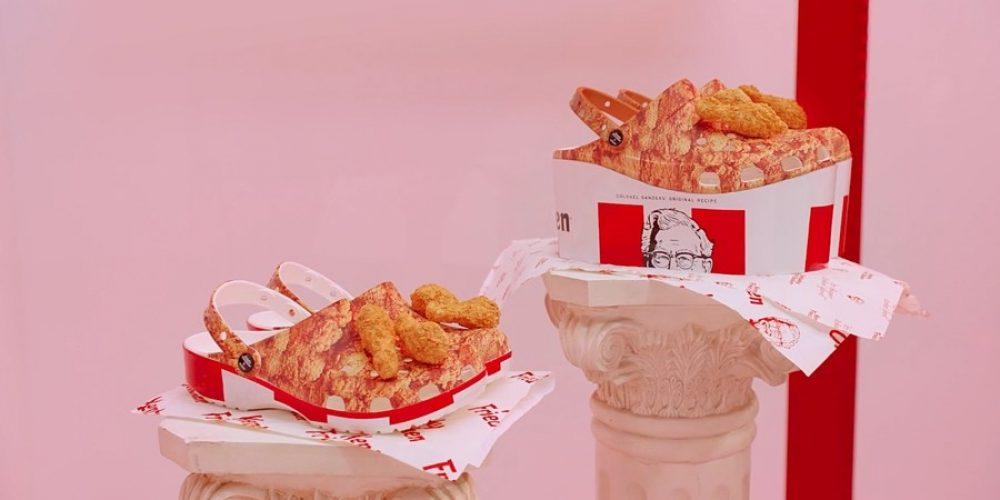 KFC y Crocs han lanzado un calzado inspirado en sus cubos de pollo frito