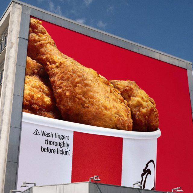 KFC pone en pausa su eslogan «Para chuparse los dedos» por ser inapropiado en tiempos del COVID-19