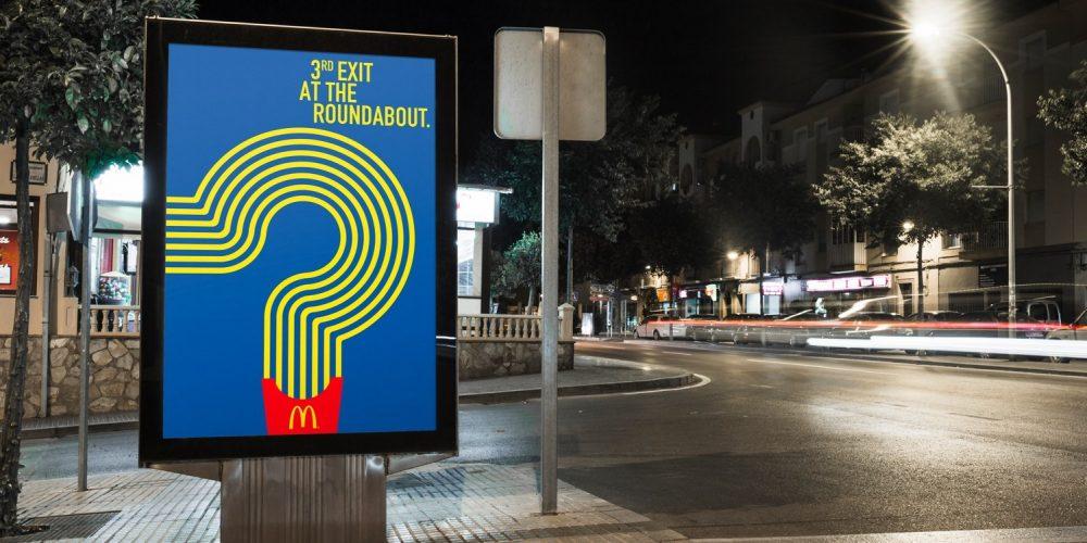 McDonald's usa sus patatas fritas como guía en esta inteligente campaña de exterior