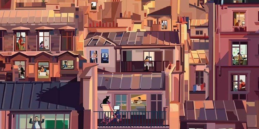 Este ilustrador imagina cómo están pasando la cuarentena los habitantes de diferentes ciudades del mundo