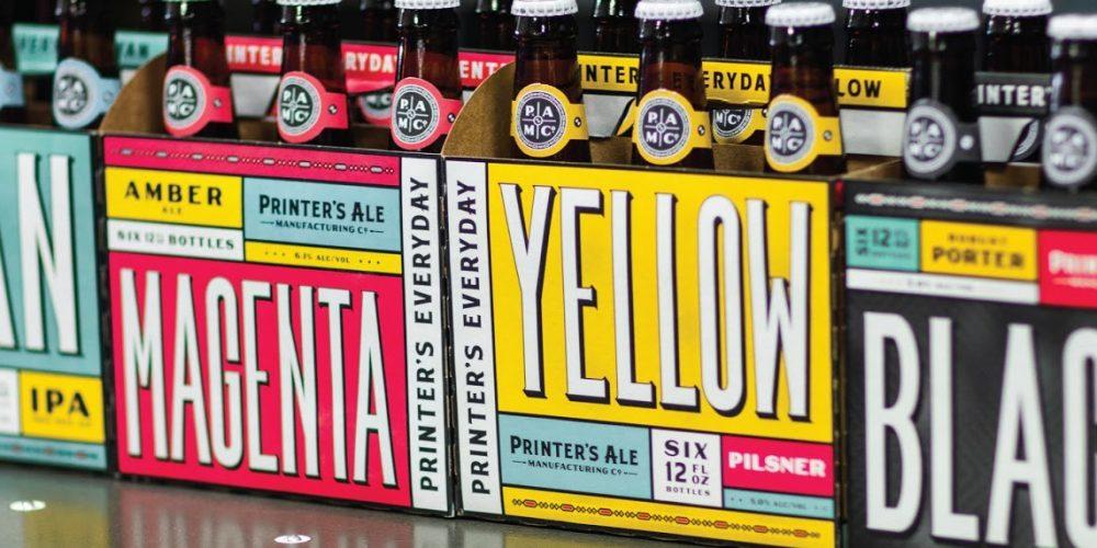 El packaging de esta marca de cerveza rinde un homenaje a la imprenta