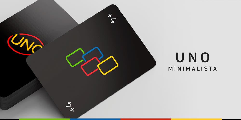 ¿Cómo sería el juego de cartas UNO en versión minimalista?