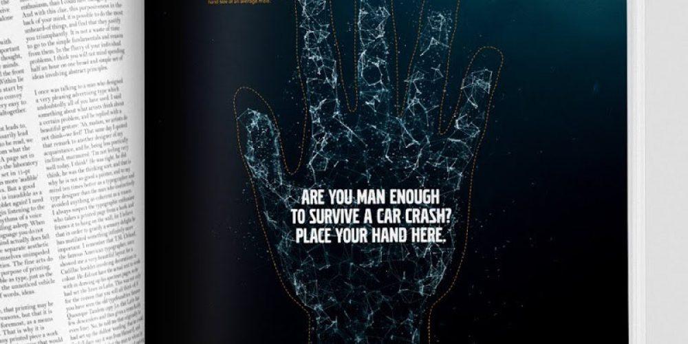 Este anuncio gráfico mide tus posibilidades de salir ileso de un accidente de tráfico